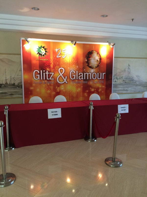 Glitz and Glamour Registration Backdrop