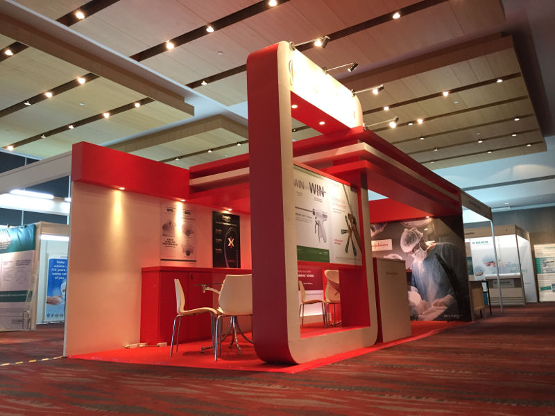 Johnson and Johnson Customized Booth, Carpet and Underlay