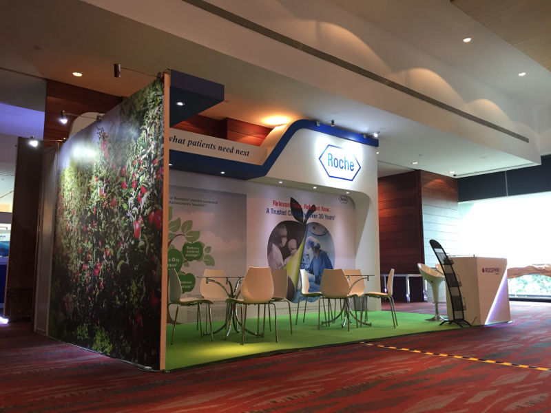 Roche Customized Booth Underlay