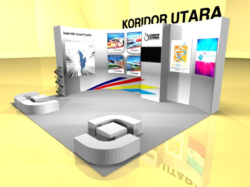3D Rendering Drawing, 3D Booth Rendering
