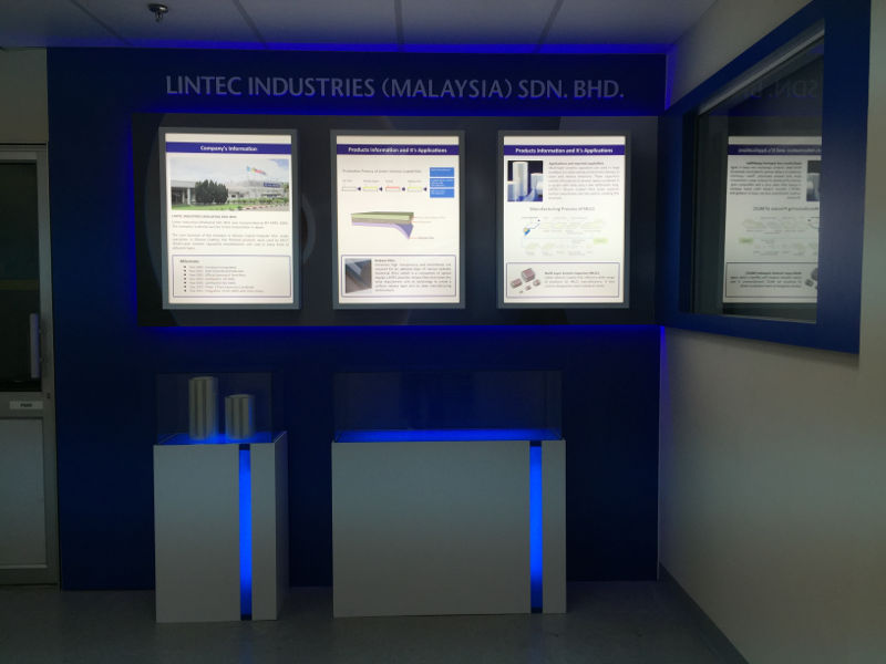 Lighted Poster and Lighted Display Counter