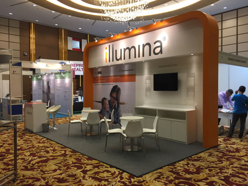 Carpentry Works for Illumina Booth and TV Rental