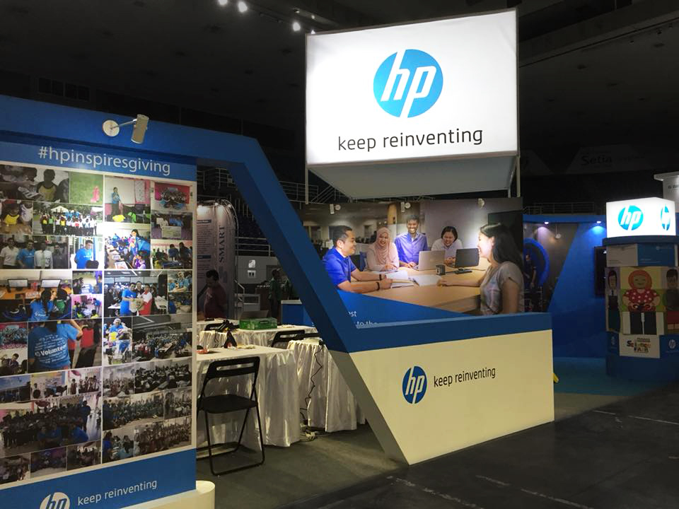 PISF - HP booth construction