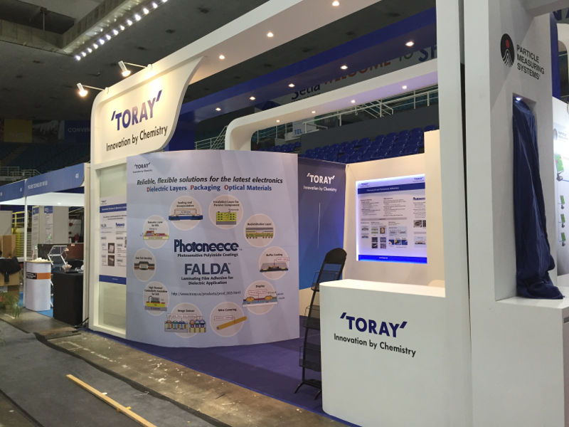 Toray Custom Booth at Semicon 2017