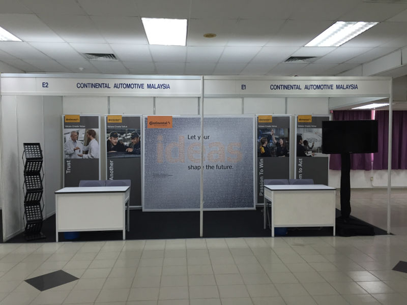 E-system booth Conti at USM Penang